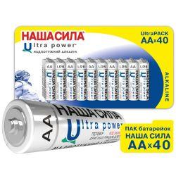 ПАК Батарейок НАША СИЛА Ultra Power  AA x40 пак 40шт