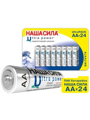ПАК Батарейок НАША СИЛА Ultra Power  AA  x24 пак 24шт