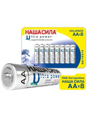 ПАК Батарейок НАША СИЛА Ultra Power  AA  x8 пак 8шт